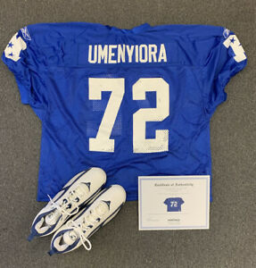 2006 Osi Umenyiora Game Issued NFL Pro Bowl Jersey & Cleats w/ Heritage LOA