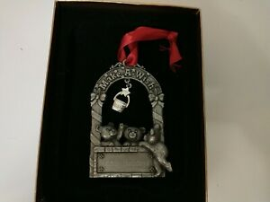 Things Remembered Make A Wish Ornament Pewter Metal Teddy Bears 1999 In Box
