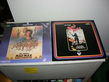 MAD MAX Laserdisc LOT LD VL4030 & Thunderdome Extended Play& BRONSON Evil Men Do