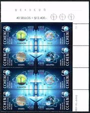 CHILE 2014 STAMP # 2526/9 MNH BLOCK TWO SERIES NUCLEAR ENERGY CORNER SHEET