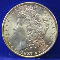 1887 -P  Morgan silver Dollar -BU Coin (SP)