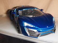 Toy Jada / Dub Diecast 1:24 Blue Lykan HyperSport car Hot Rod Fast Furious