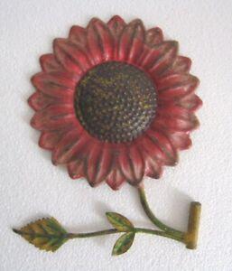 IRON FLOWER WEATHER VANE WITH LEAVES WEATHERVANE , EMBOSSED
