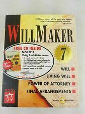 Vintage Will Maker 7 Free Cd Inside Nolo's Living Trust Maker