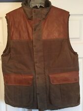J.L.Powell Rare Limited Edition Waxed Cotton Shearling Leather Vest Beautiful M