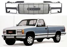 Replacement Chrome Grill For 1988-1993 GMC Sierra Suburban Yukon New Free Ship