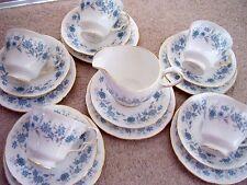 Colclough England porcelain tea trio: cups ,plates and saucers,set of 18 pieces