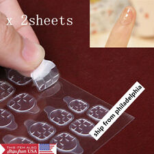 48pcs Nail Guard Glue Full Cover Clear Sticker Protector Fast Peel-off Removal