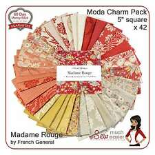 Moda Charm Pack Madame Rouge French General Fabric madam red vintage Rouenneries