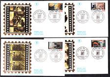 enveloppe 1er jour  les 4 du bloc cinéma  Paris    1995