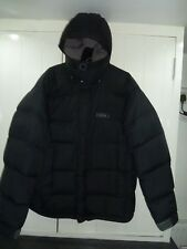 Men's Black Down Hooded Jacket by Rab in Size M
