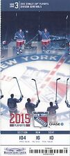 2015 NEW YORK RANGERS VS PITTSBURGH PENGUINS PLAYOFFS TICKET STUB GAME #5