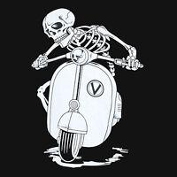 Skull Roller 2 Vespa  T-Shirt schwarz / Totenkopf Größe  S - 5XL