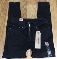 NWT Levis 711 Black 5 Pocket Zipper Fly Skinny Jeans Size 4 28x26 P164