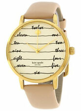 NEW Kate Spade New York KSW1059 Metro Leather Brown Women's Watch