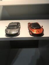 Mclaren P1 Diecast Model Car - Orange- With Lamborghini Aventador- Grey-