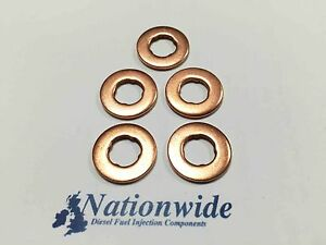 Volvo XC60 D5 2.4 AWD Common Rail Diesel Injector Washers/Seals x 5
