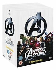 Marvel's The Avengers 6-Movie Collection 2008 DVD 2012 Robert Downey DVD New