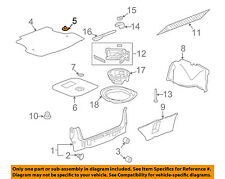 GM OEM Interior-Rear-Floor Cover Retainer 25691080