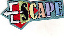 """ESCAPE""  Iron On Embroidered Applique Patch /Games, Fun, Challenge"