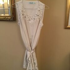 Almost Famous All Over Pearl Vest Top Size 10 NWT Sample SP £119