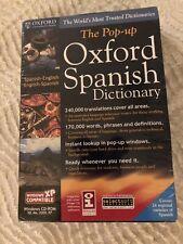 Sealed Nib Pop-Up Oxford Spanish Dictionary Windows Cd 95/98/Nt/Me/2000/Xp