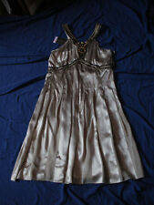 FAB Beige 100% SILK Beaded Cocktail Dress by M&S sz 10 *BNWT* with Tag rrp £69