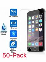 50X Premium Tempered Glass Film Screen Protector for iPhone 5 6s 7 8Plus XS Max