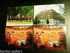 BUDWEISER BEER Postcard LOT CLYDESDALE HORSES WAGONS ST LOUIS MISSOURI MO BREW