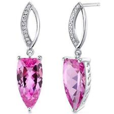 Pink Sapphire Not Enhanced Fine Earrings
