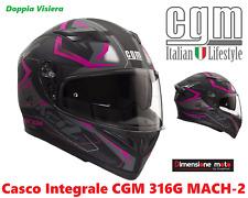 Casco Integrale Doppia Visiera CGM 316G-MACH2 Fucsia Fluò Opaco Taglia S 55/56cm