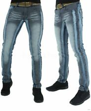 Peviani Men's Denim Distressed Jeans, Blue Star, G, Is Time Money, Club,Illinois