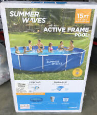 New listing Summer Waves 15 ft Active Metal Frame Above Ground Swimming Pool W Filter Pump
