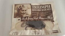 Vintage Triumph Invisible Hair Net 1930s Deco Era - Real Human Hair - Brunette