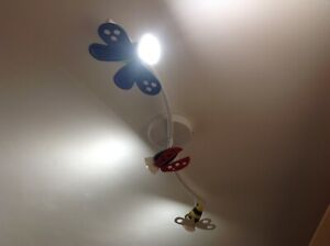 Ikea Insects Butterfly Bee Ladybird Ceiling Adjustable Track Spotlight 110-230V
