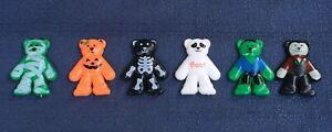 Grateful Undead Bears Set Of 6 Halloween