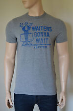 NUOVO Abercrombie & Fitch orebed Brook Camerieri Gon na Wait GREY TEE XL