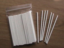 "50 x 6"" PAPER LOLLY POP STICKS LOLLIPOP COOKIE CRAFT"