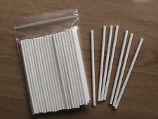 "50 x 4"" PAPER LOLLY POP STICKS LOLLIPOP COOKIE CRAFT"