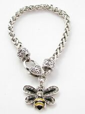 Bumble Bee Crystal Fashion Chain Bracelet Jewelry