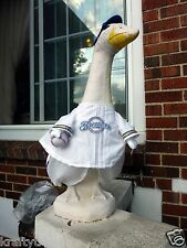 GOOSE CLOTHES 4 LAWN GOOSE MILWAUKEE BREWER BASEBALL CEMENT PLASTIC GARDEN DECOR