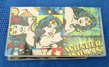 Wonder Woman Checkbook Cover fabric with vinyl protector Custom Handmade