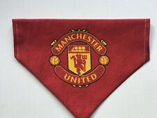 Manchester United red dog bandana size Large Neckerchief Handmade through collar