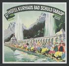 Hotel Kurhaus BAD SCHULS-TARASP Switzerland - vintage luggage label