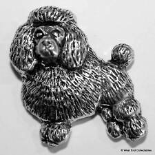 Poodle Dog Pewter Pin Brooch -British Hand Crafted- Toy Caniche Barbone Breed