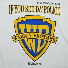 Vintage If you See Da Police Warn a Brother SHIRT Bahamas Large