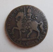 1690 Ireland Crown Brass Coin Gun Money Europe