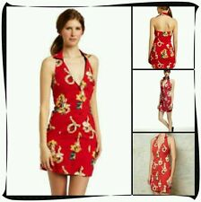 Fred Perry Amy winehouse Hawaiian halter neck Dress Size 12