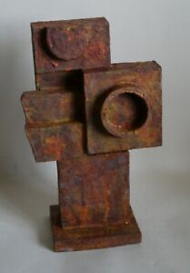 Retro abstract sculpture brutalist modernist influenced Bill Low