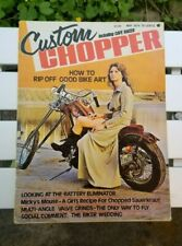 Custom Chopper Magazine May 1974 Cafe Racer Bike Art Kustom Kulture Motorcycles